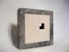 """Fenster"" Raku 1100 °C, 27 x 8 x 27 cm"