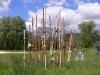 """""""Gräser"""" Installation, Keramik unterschiedliche Tonsorten Elektrobrand 1240 °C, Höhe: 100 bis 250 cm"""